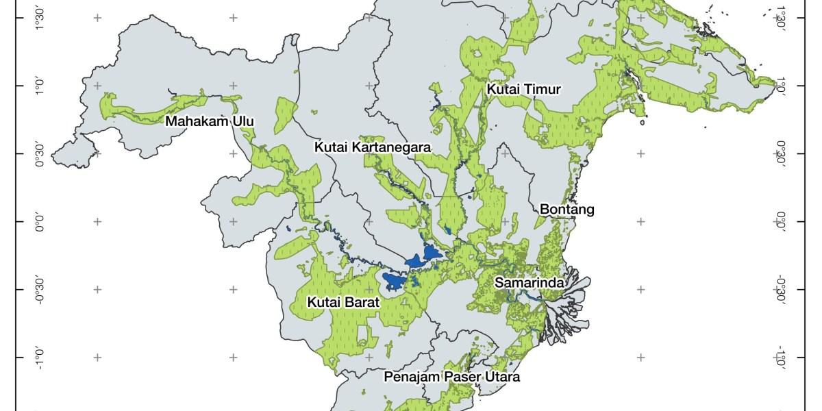 Peta Perkebunan Kalimantan Timur