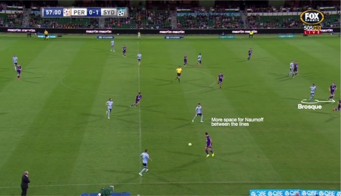 Brosque runs off shoulder