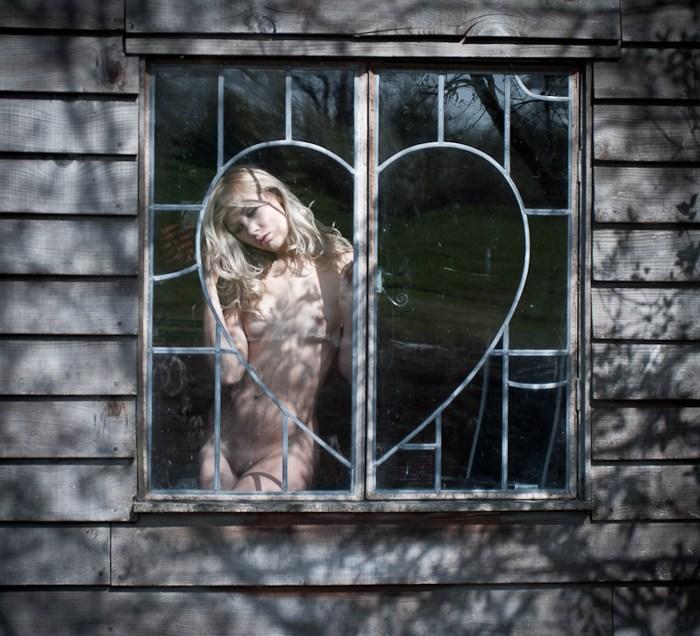 Through the squarish window