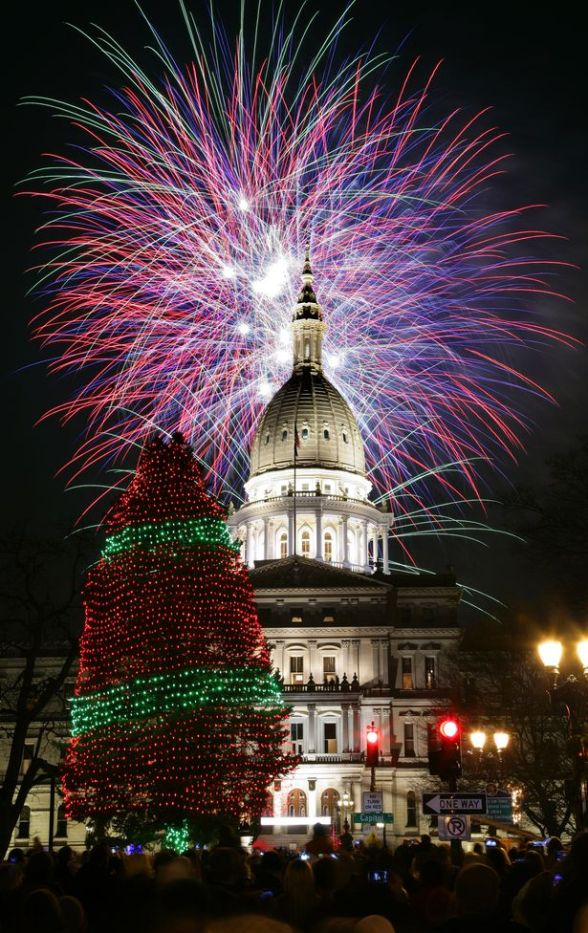 Michigan Capitol Christmas Tree Tim Latimer Quilts Etc