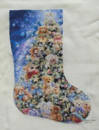 Stocking Teddy Bear Tree
