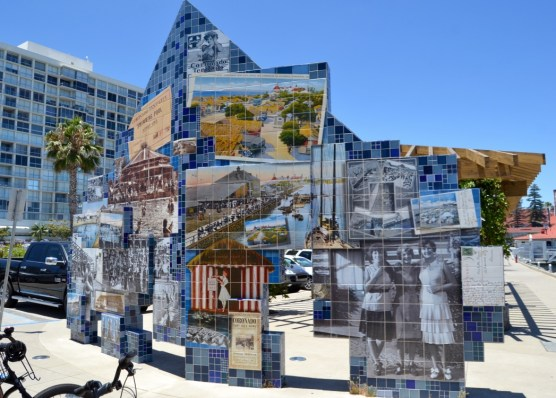 Great display retelling the history of Coronado Island featuring historical photographs on tile