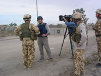 Tim working with Sky and ITV