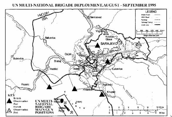 Multi-National Brigade deployment August-September 1995