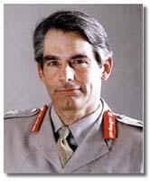 Lieutenant General Rupert Smith. The British commander of UN forces inside Bosnia