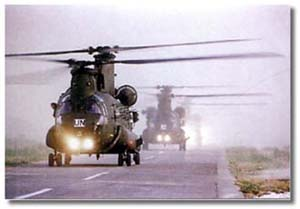 RAF Boeing Chinook helicopters arrive in Croatia. Photo: UKLF Media Production Cell / Crown Copyright