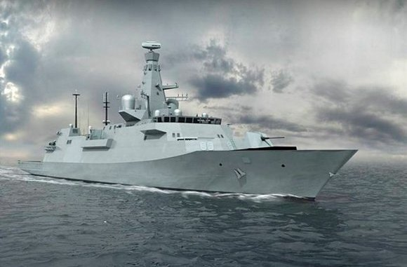 Computer graphic of the new type 26 Global Combat Ship. Image : BAe systems
