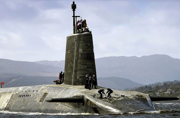 A Trident Submarine. Image: Crown Copyright