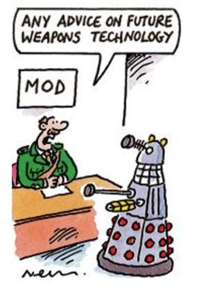 MoD Take Advice from Dalek Cartoon