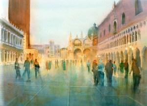 """Impressions of Venice watercolour 23""""X17"""""""