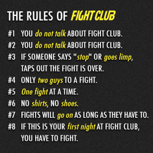 The Fight Club Recruiting Rules!