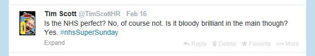 NHS Tweet