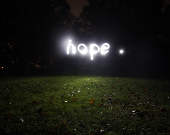 Hope light in darkness