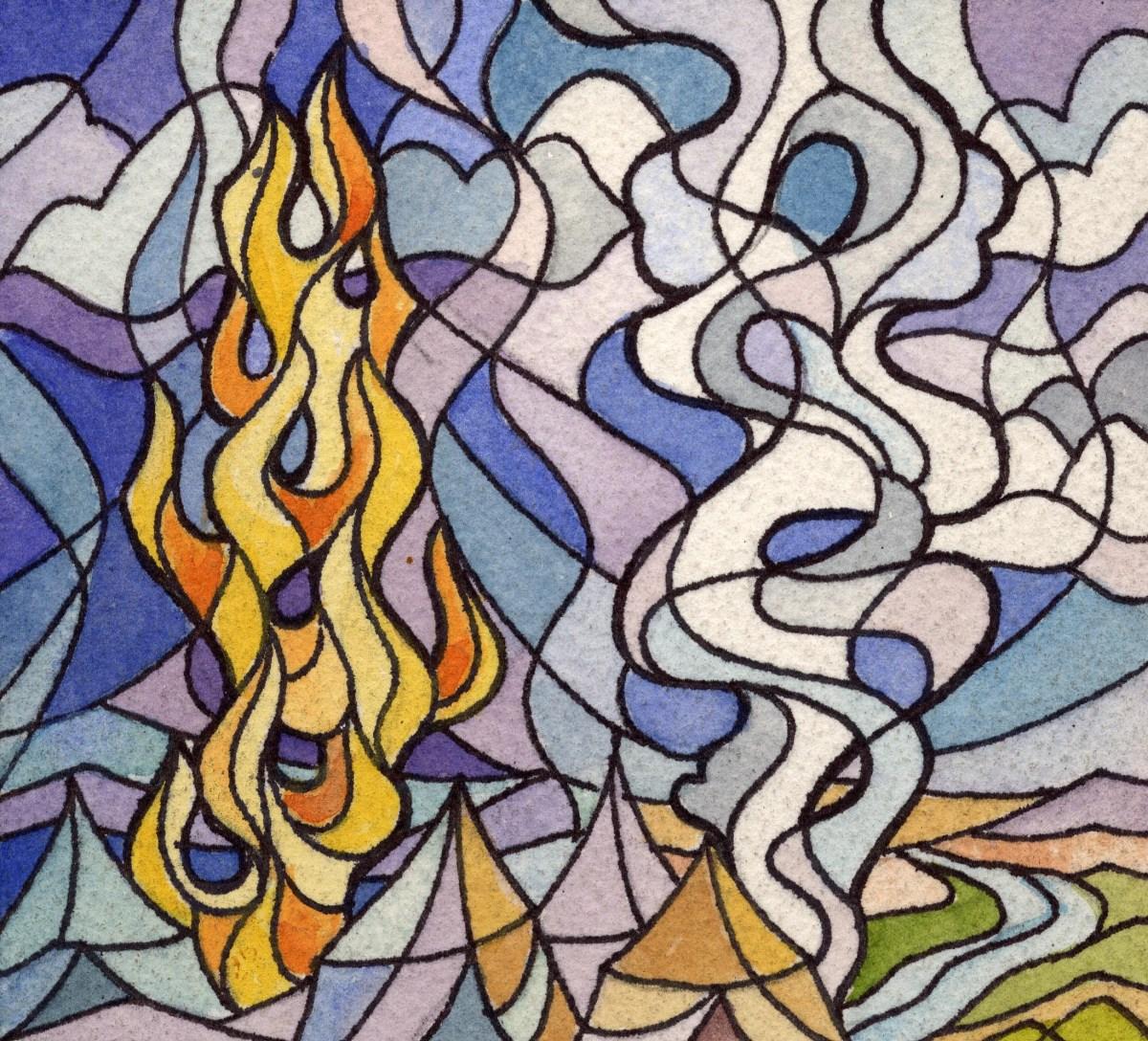 Moses Pillar Fire
