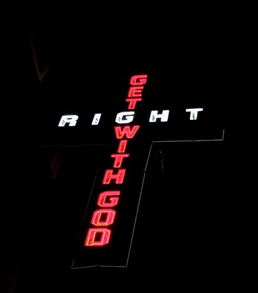 get right with god sign