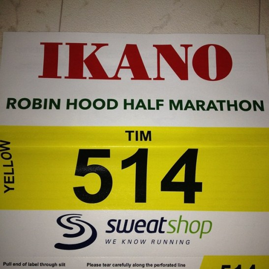 My running number for Robin Hood 2014!