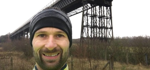 Standing in front of Bennerley Viaduct