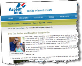 Blog screen shot