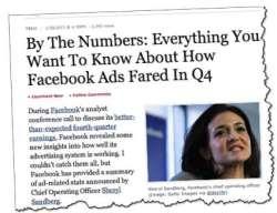 Facebook ad numbers Sheryl Sandberg