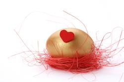 heart golden egg