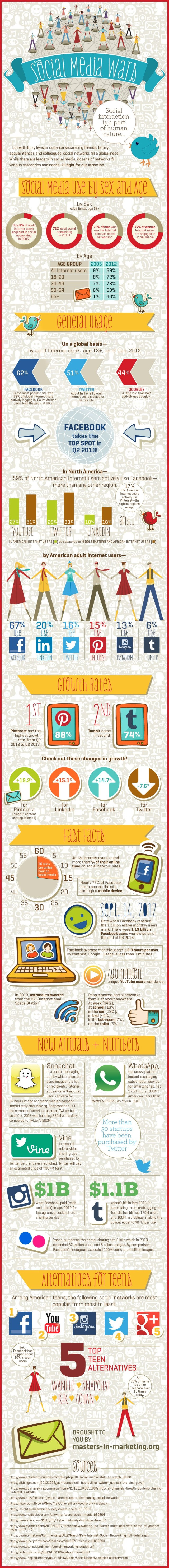 social media usage infographic