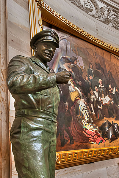 Represented here in the Rotunda of the Capitol is General Eisenhower, Supreme Commander of the troops invading France, before becoming President. Photo by Tim Stanley Photography.