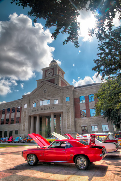 Most smaller car shows take place in a local strip center or department store parking lot. This small show was held at the Sugar Land Town Square. Though not large, the quality exceeded the quantity. The City Hall building always makes for a nice background for any activity or event that takes place there. Photo by Tim Stanley Photography.