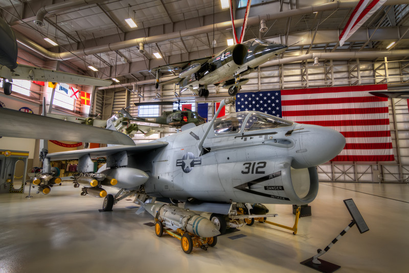 The Vought A-7 Corsair II is a carrier-capable subsonic light attack aircraft introduced to replace the A-4 Skyhawk. The A-7 airframe design was based on the successful supersonic Vought F-8 Crusader. Photo by Tim Stanley Photography.