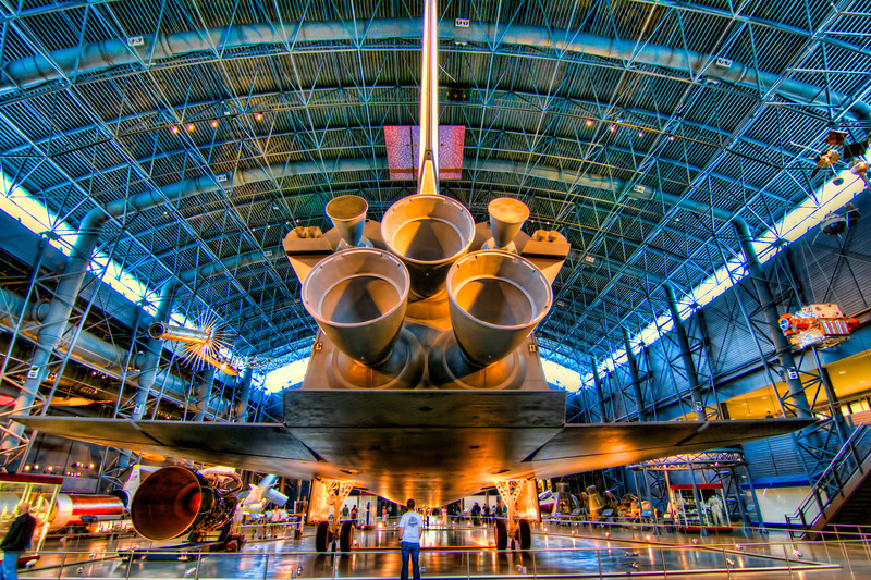 I have never had the privilege of viewing an actual launch or landing in person, so seeing the Enterprise at theNational Air and Space Museum at the Udvar-Hazy Centerwas a real treat.