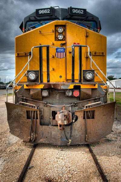 I found this Union Pacific engine on a side track all by itself and no one around. Finders, keepers. It's mine. I'm claiming it. Now I just have to figure out how to get it home. Photo by Tim Stanley Photography.