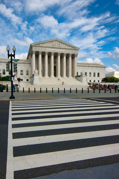 The Supreme Court is one of those structures that just looks official. Even if you didn't know who offices there, you just know something important must be going on inside. Photo by Tim Stanley Photography.