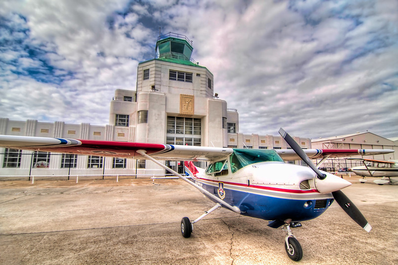 The museum is housed in Houston's original art-deco air terminal at William P. Hobby Airport. and showcases both civil aviation and Houston's aviation history. Photo by Tim Stanley Photography.