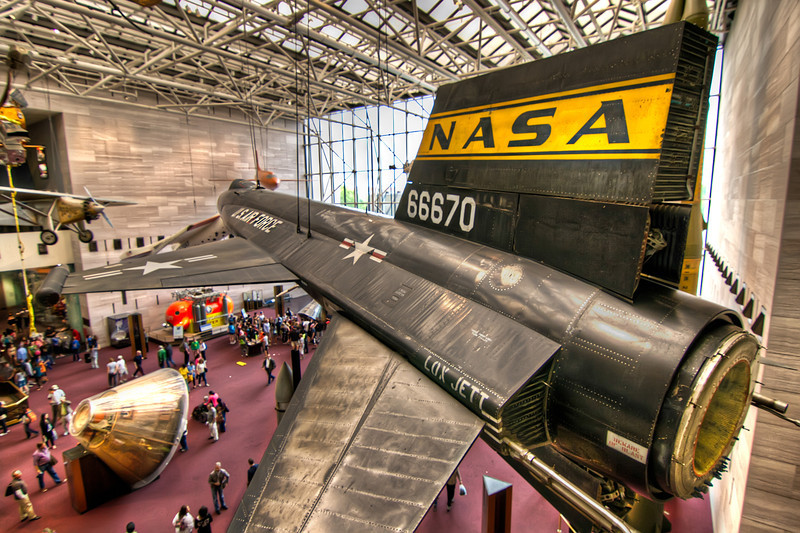 This predecessor to the Space Shuttle is the X-15A-1, one of the three ships built. It flew 82 powered flights and now rests in the National Air and Space Museum in Washington D.C.