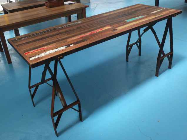 Recycled timber beer bar bench