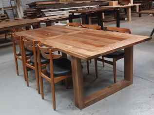 Recycled timber dining table with box legs