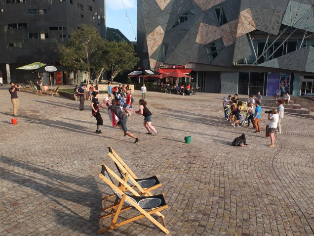"""""""Feed the Family"""" game @ Fresh Air Festival, Fed Square"""