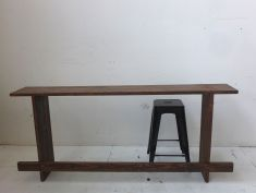 Recycled timber breakfast bar