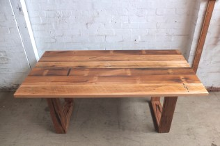 Rustic recycled hardwood table