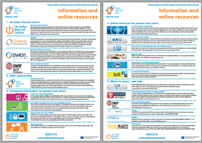 Safer Internet Day 2018 Information