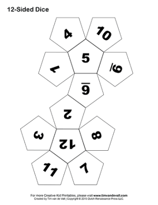Printable-12-Sided-Paper-Dice-BW-350w