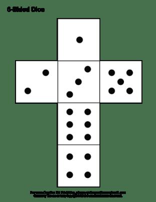 printable paper dice template