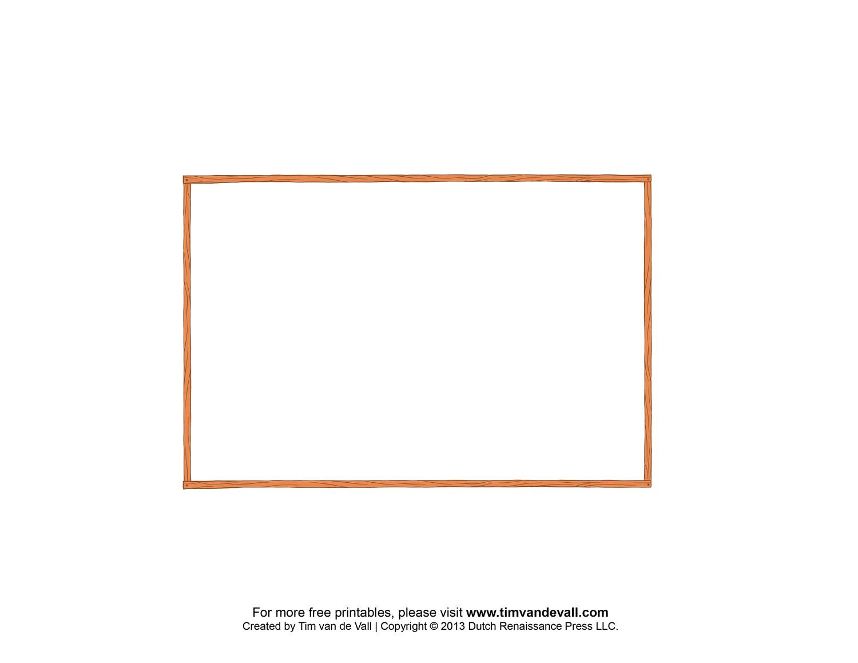 Free Printable Postcard Border Template Amp Postcard Outline
