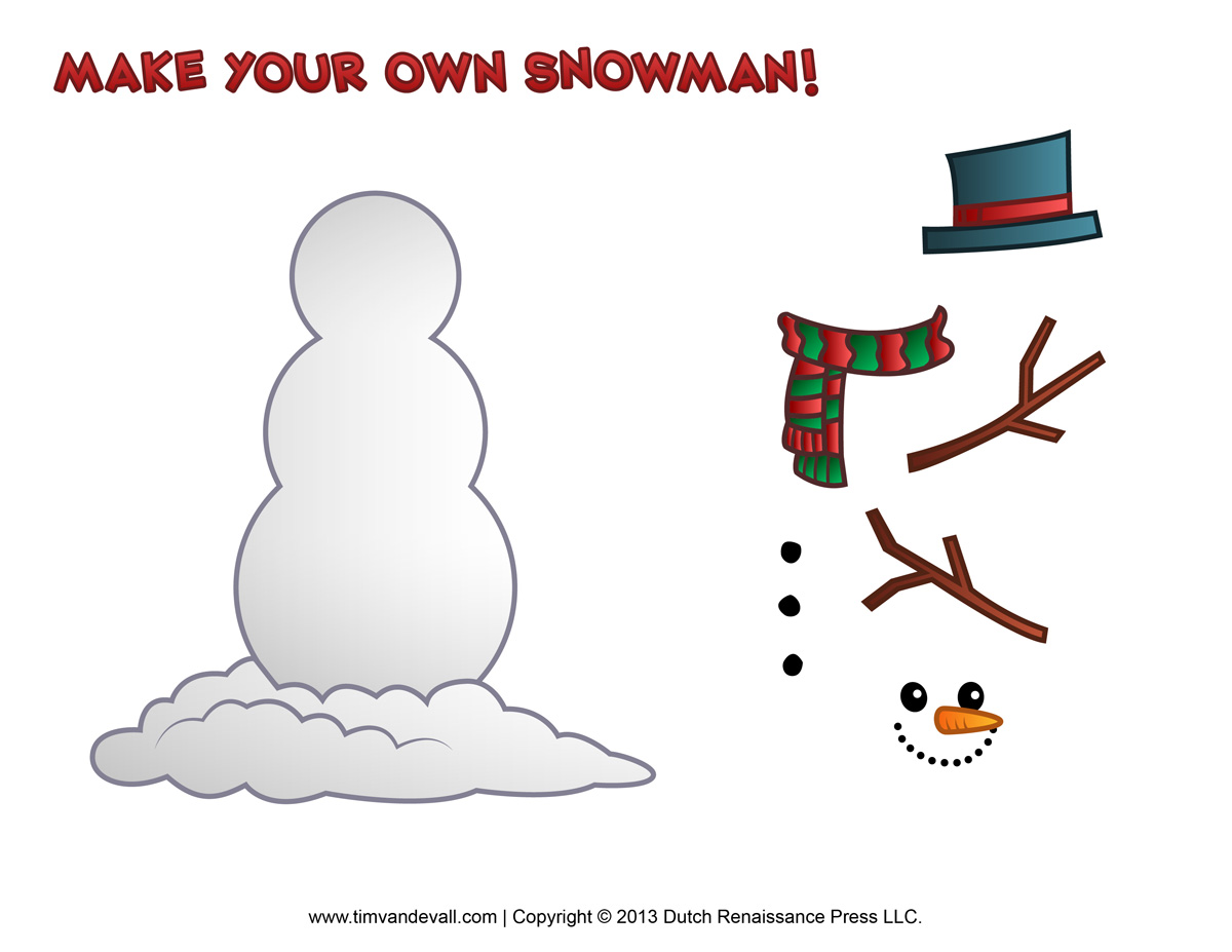 Free Snowman Clipart Template Amp Printable Coloring Pages