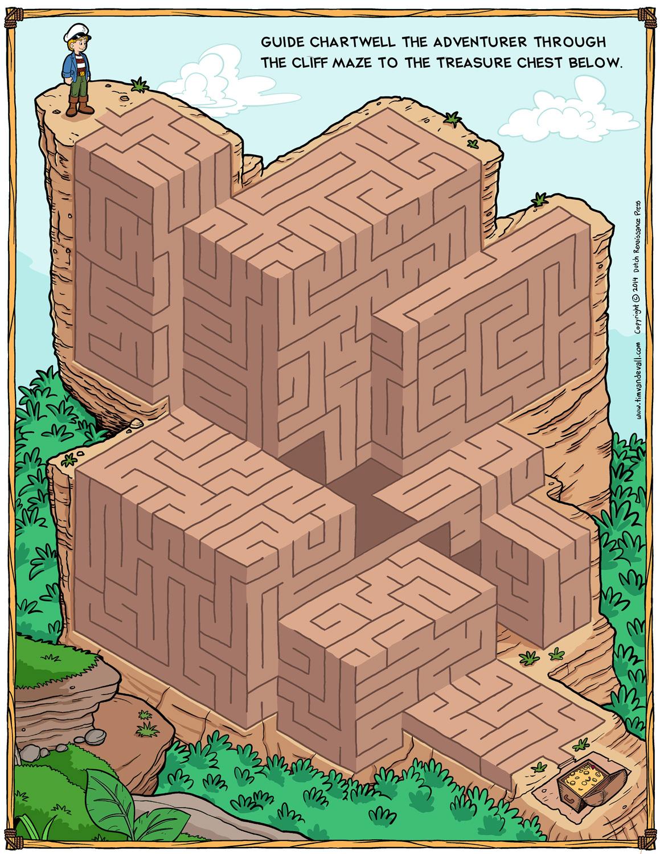 Free Maze Printable Cartoon Adventurer Maze Activity