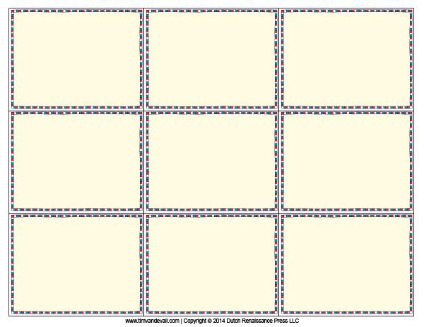Printable Flash Card Template