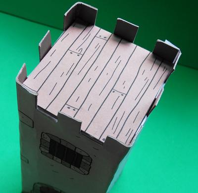 free cardboard castle