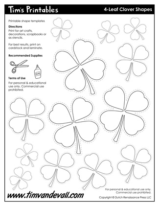 4-Leaf Clover Template