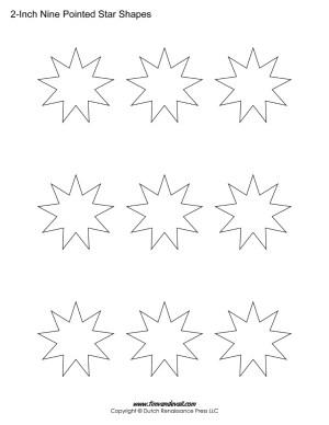 9 sided stars
