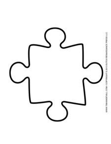 Puzzle Piece Template #1