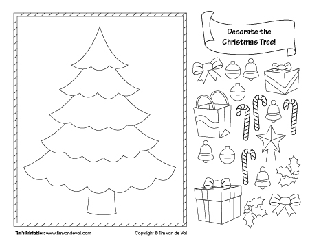 Christmas Tree Cut and Paste